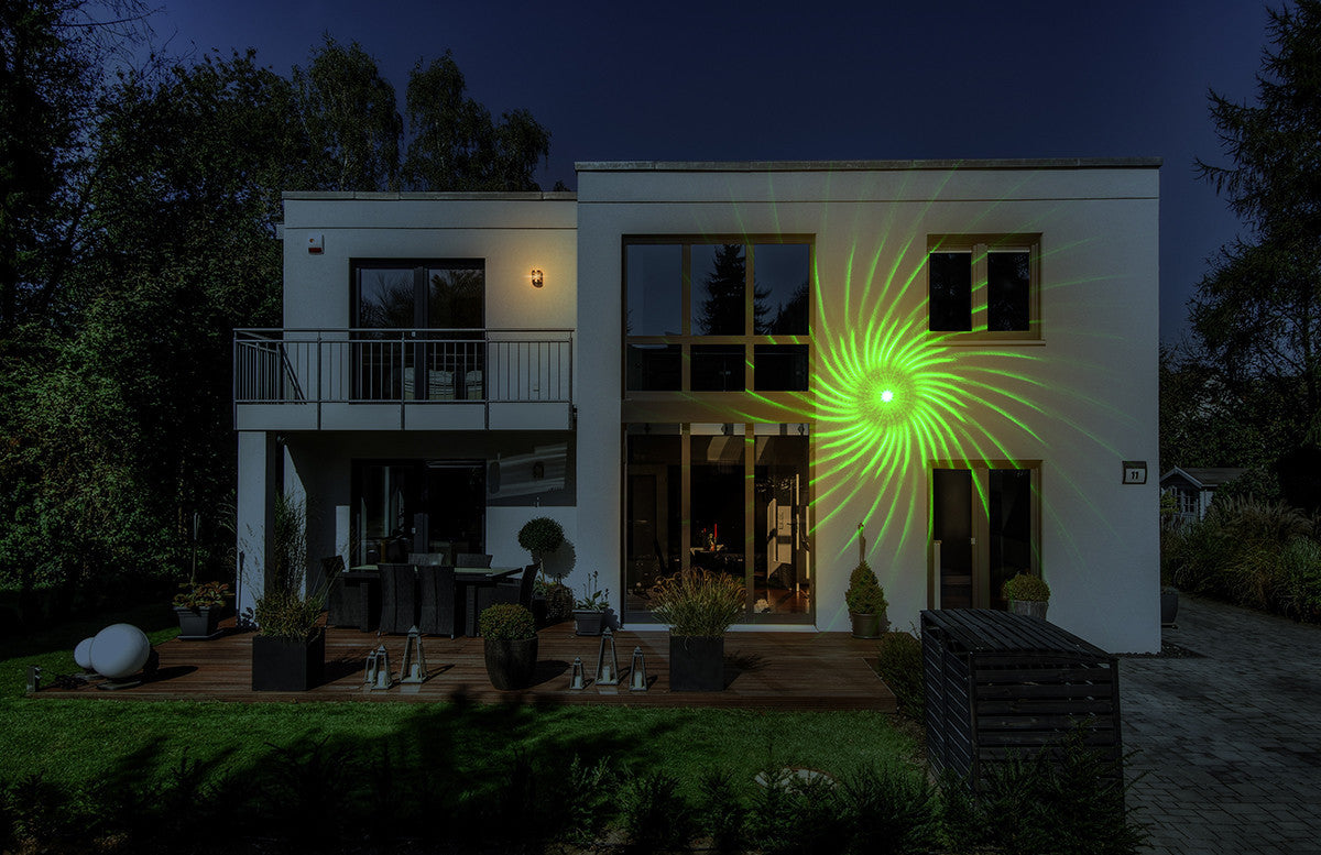 Laser Lights - Spinning Vortex LED, Red, Green Lasers with Remote - Night Stars Landscape Lighting