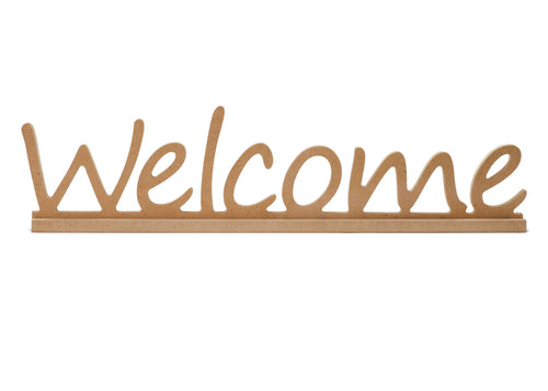 Welcome Shelf Sign