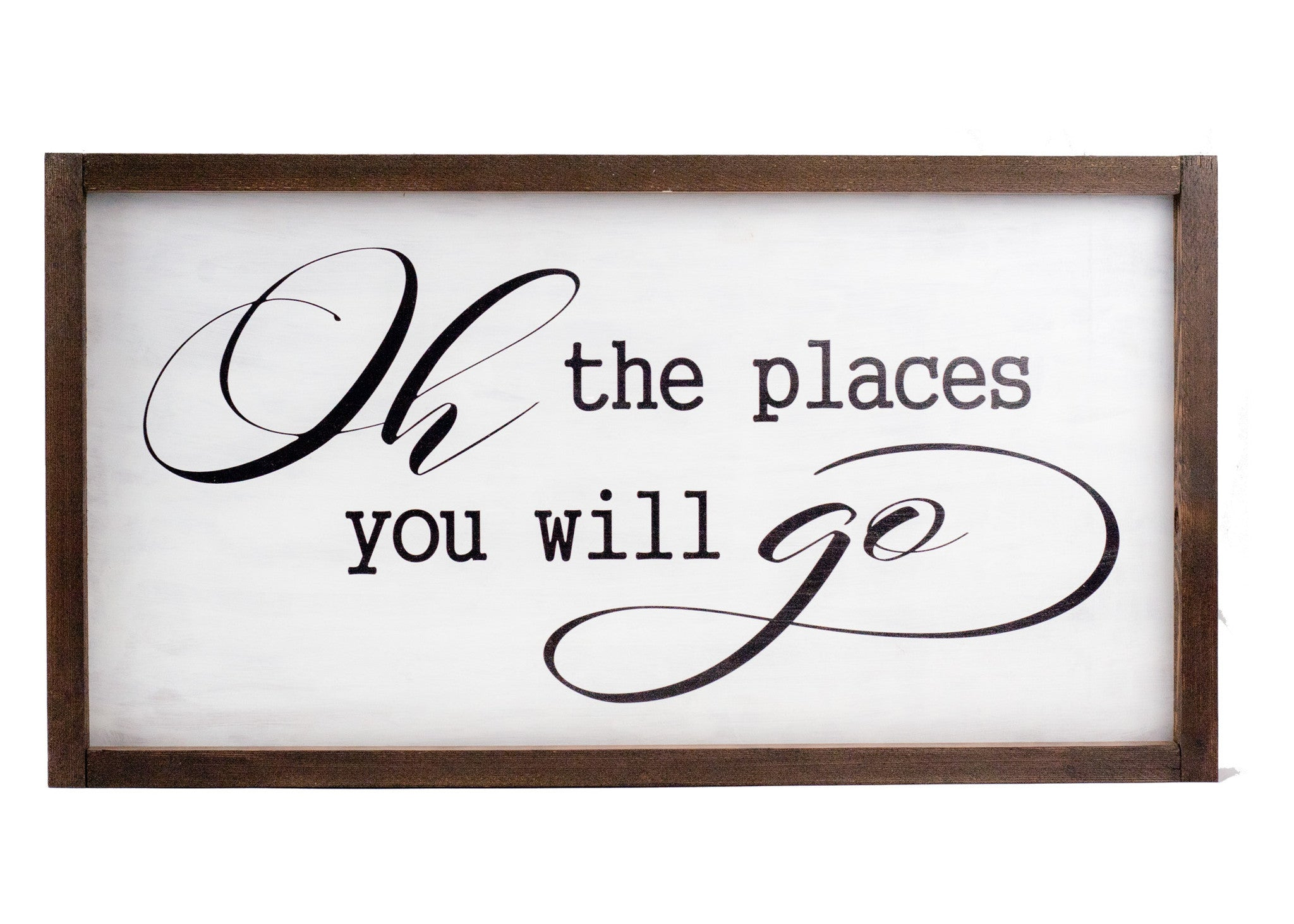 Oh The Places You Will Go Farmhouse Wood Print