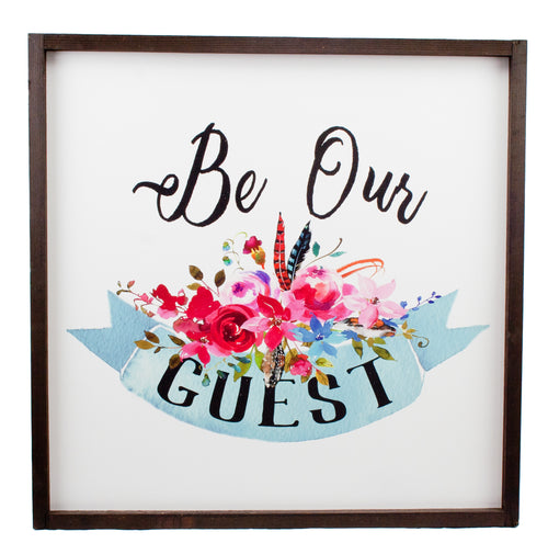 Be Our Guest Farmhouse Wood Print