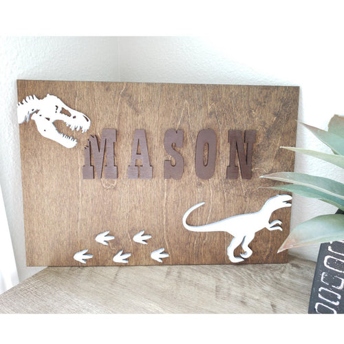 Boys Name Wall Decor with Dimensional Letters