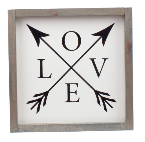 L O V E Farmhouse Wood Print