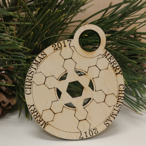 2017 Merry Christmas Ornament
