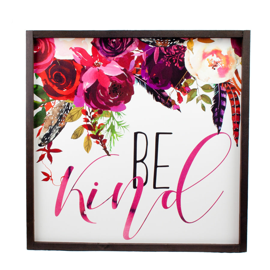 Be Kind Farmhouse Wood Print