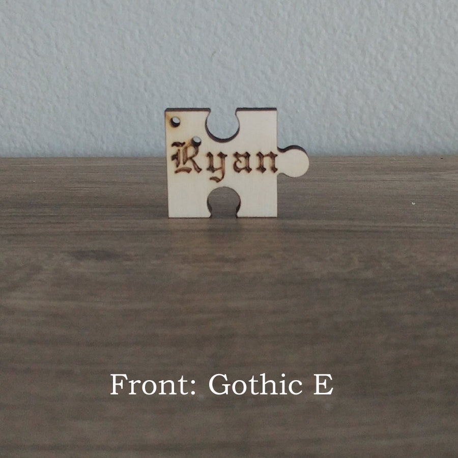 Single Puzzle Piece Wood Key Chain