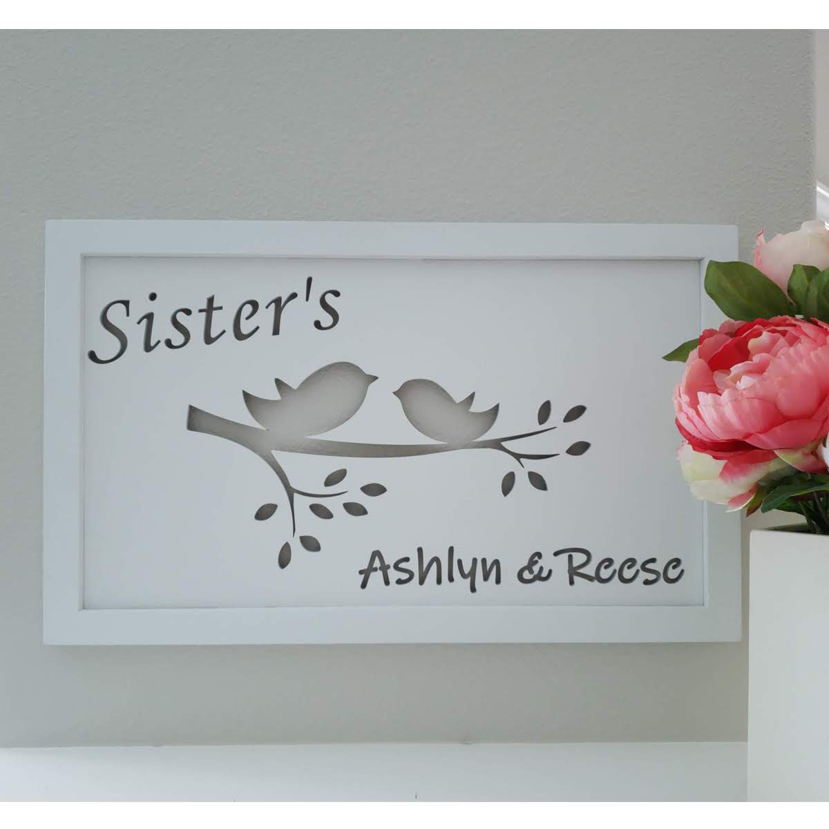 Sisters Engraved Wall Decor