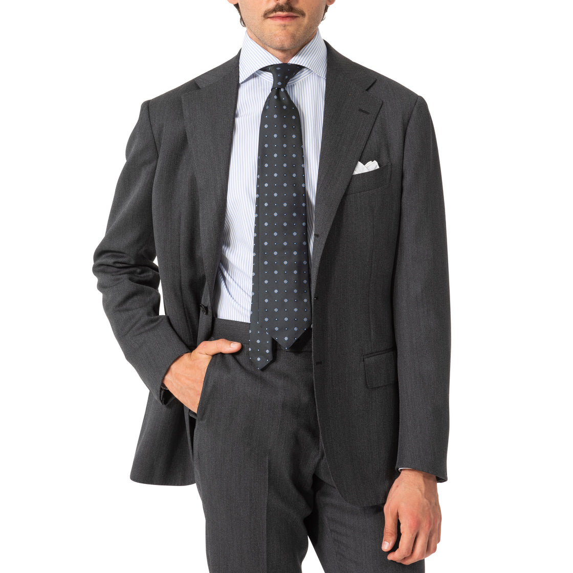 The Armoury Wool Calm Twist Model 3A Suit