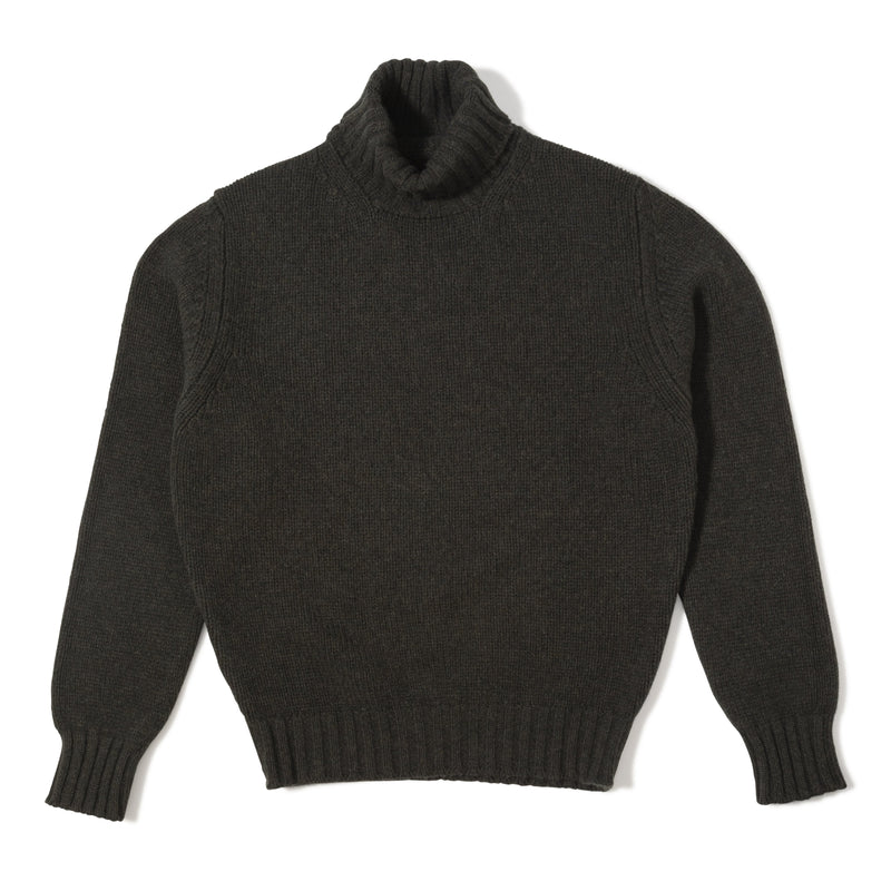 80797712d The Armoury The Armoury Lambswool Rollneck Sweater – Seaweed USD 250