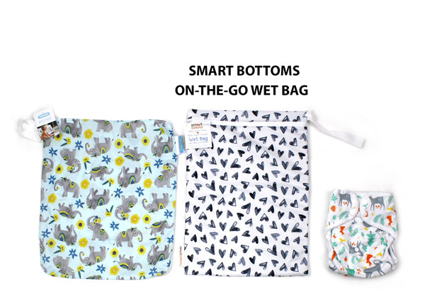 Smart Bottoms on the go wet bag size comparison