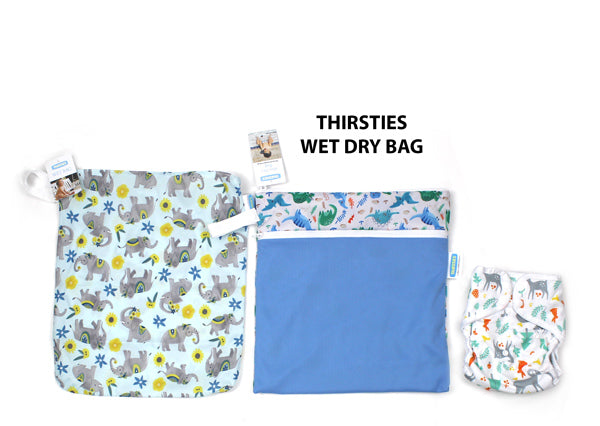 Thirsties Wet Dry bag size compared