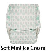 GroVia Organic AIO Diaper Soft Mint Ice Cream