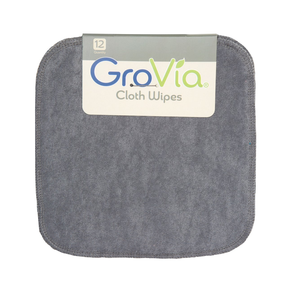 GroVia Cloth Wipes Grey