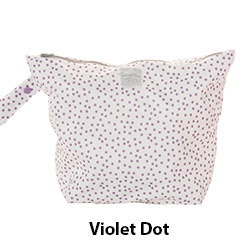 GroVia Wet Bag Violet Dot