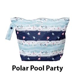 GroVia Zippered Wet Bag Polar Pool Party