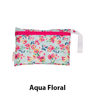 Smart Bottoms Small Mesh Bag Aqua Floral