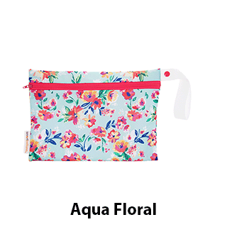 Smart Bottoms Small Wet Bag Aqua Floral