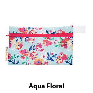 Mini Wet Bag Aqua Floral
