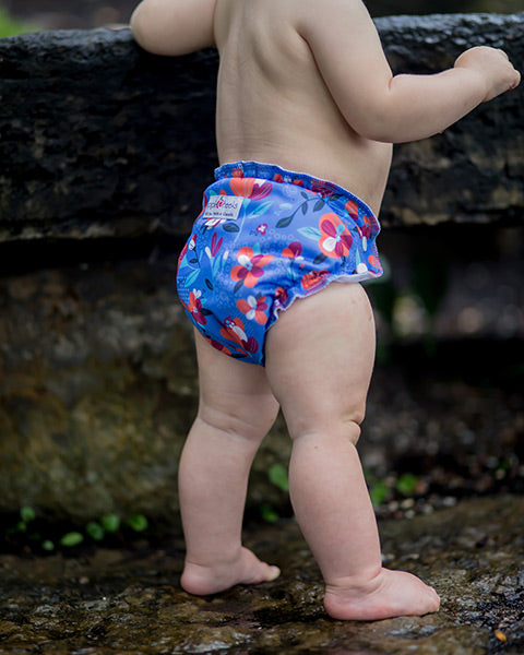 solar flower AppleCheeks cloth diaper print