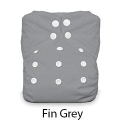 Thirsties Snap Natural One Size AIO Fin Grey
