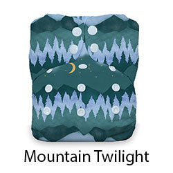 Natural AIO Snap One Size Mountain Twilight