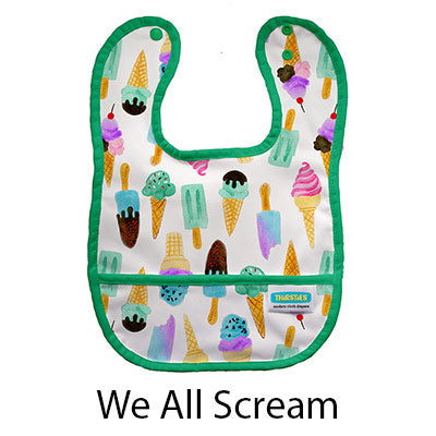 Thirsties Pocket Bib We All Scream