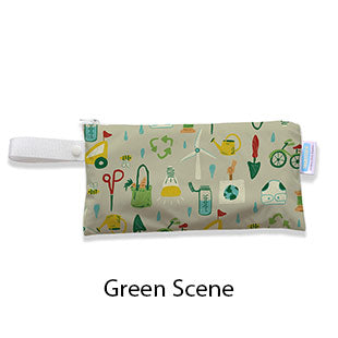 Thirsties Clutch Bag Green Scene