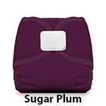 Thirsties Diaper Cover Hook and Loop Sugar Plum