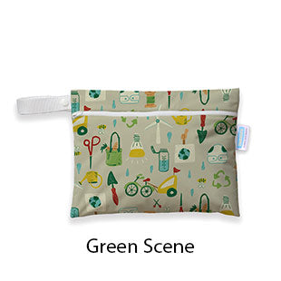 Mini Wet Bag Green Scene