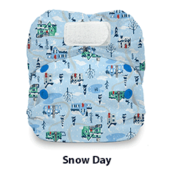 Thirsties Natural Newborn Hook and Loop Snow Day