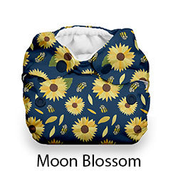 Thirsties Natural Newborn AIO Snaps Moon Blossom