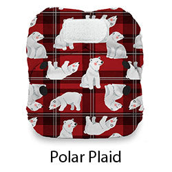 Natural Newborn AIO Hook and Loop Polar Plaid