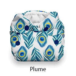 Thirsties Natural Newborn AIO Snap Plume