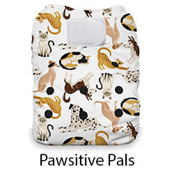 Thirsties Natural AIO Hook and Loop Pawsitive Pals