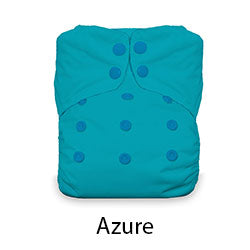 Thirsties Natural One Size AIO Snaps Azure
