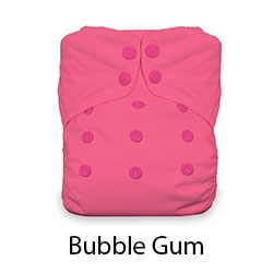 Thirsties Natural One Size Snaps Bubble Gum