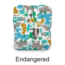 Thirsties Snap Natural One Size AIO Endangered