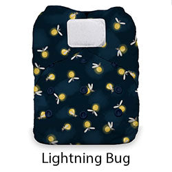 Thristies Natural One Size AIO Hook and Loop Lightning Bug