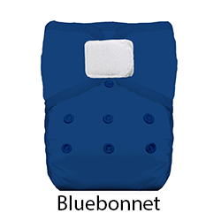 Thirsties Natural Pocket Diaper Hook and Loop Bluebonnet