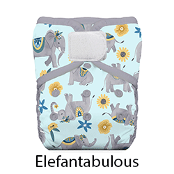 Thirsties Natural Pocket Diaper Hook and Loop Elefantabulous