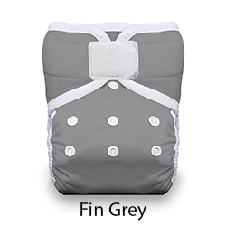 Thirsties Natural Pocket Diaper Fin Grey