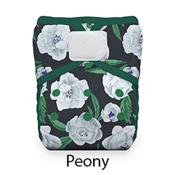 Thirsties Natural Pocket Diaper Hook and Loop Peony