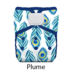 Thirsties Natural Pocket Diaper Hook and Loop Plume