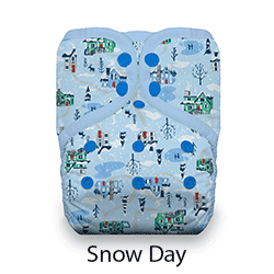 Thirsties Pocket Diaper Snaps Snow Day