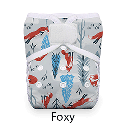 Thirsties Natural Pocket Diaper Hook and Loop Foxy