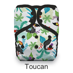 Thirsties Pocket Diaper Snap Toucan