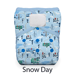 Thirsties Natural Pocket Diaper Hook and Loop Snow Day