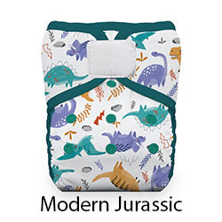 Thirsties Pocket Diaper Hook and Loop Modern Jurassic