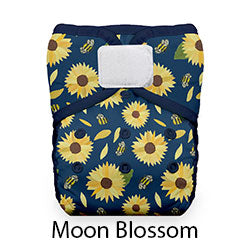 Thirsties Pocket Diaper Hook and Loop Moon Blossom