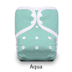 Thirsties Pocket Diaper Snap Aqua