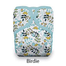 Natural Pocket Diaper Snap Birdie